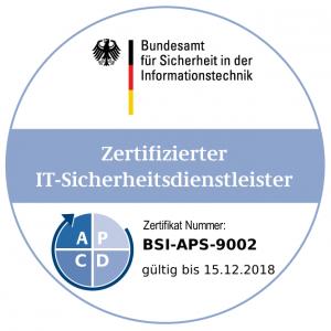 BSI zertifizierter IT-Sicherheitsdienstleister