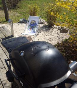 Die Liegestuhl-Vera und der Grill